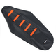 Black/Orange Ribbed Seat Cover - 0821-1791