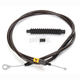 Midnight Stainless Clutch Cable for use w/15 in. to 17 in. Ape Hangers - LA-8010C16M