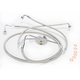 Polished Stainless Designer Series Dual Disc Front Lower Brake Line - 57010
