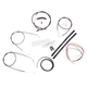 Black Vinyl Handlebar Cable and Brake Line Kit for Use w/18 in. - 20 in. Ape Hangers (w/o ABS) - LA-8300KT2-19B