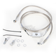 Front Extended Length ABS Stainless Steel Brake Line Kit +10 in. - 1741-3795