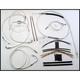 Custom Sterling Chromite II Designer Series Handlebar Installation Kit for Use w/12 in. - 14 in. Ape Hangers (w/ABS) - 387311