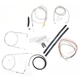Stainless Braided Handlebar Cable and Brake Line Kit for Use w/15 in. - 17 in. Ape Hangers (w/o ABS) - LA-8130KT2-16