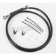 Front Extended Length Black Vinyl Braided Stainless Steel Brake Line Kit +10 in. - 1741-2549