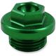 Green Aluminum Oil Filler Plug - 24-198
