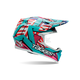 Teal/Pink/Red/Orange Multi Tagger Designs Moto-9 Tagger Trouble Helmet