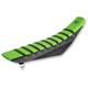 Black/Green/Black Pro Rib Kevlar Seat Cover - 25502