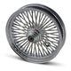 Chrome 16 x 3.5 Fat Daddy 50-Spoke Radially Laced Wheel for Single Disc - 0203-0244