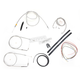 Stainless Braided Handlebar Cable and Brake Line Kit for Use w/18 in. - 20 in. Ape Hangers (w/o ABS) - LA-8100KT2A-19