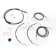 Black Vinyl Handlebar Cable and Brake Line Kit for Use w/15 in. - 17 in. Ape Hangers w/ABS - LA-8050KT-16B