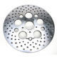 Front 11.8 in. Stainless Steel Drilled Brake Rotor - 1710-1902