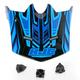 Youth Blue/Black MC-2 CL-XY Fulcrum Helmet Visor - 0963-6019-02