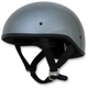 Gunmetal Metal Flake FX-200 Slick Beanie Style Half Helmet