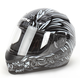 Black/Silver To the Nines SS700 Helmet