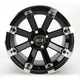Black 393X Cast Aluminum ATV/UTV Wheel - 0230-0538