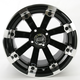 Black 393X Cast Aluminum ATV/UTV Wheel - 0230-0529