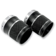 Reverse Cut Black Exhaust Tips for 3 1/2 Inch Rinehart Exhaust - TC-996B