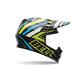 Black/Green/White/Blue Tagger Designs Scrub Psycho MX-9 Helmet
