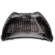 Black Integrated Taillight w/Smoke Lens - MPH-3077B