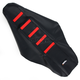 Black/Red Ribbed Seat Cover - 0821-1787