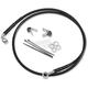 Front Standard Length Black Vinyl Braided Stainless Steel Brake Line Kit - 1741-2580
