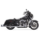 Chrome 36 in. True Dual Fishtail Slip-On Mufflers w/Removable 2
