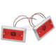 Dual Incandescent Style Marker Light w/Red Lens - 0814R-2