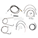 Midnight Stainless Handlebar Cable and Brake Line Kit for Use w/Mini Ape Hangers - LA-8150KT2-08M
