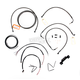 Midnight Stainless Handlebar Cable and Brake Line Kit for Use w/12 in. to 14 in. Ape Hangers - LA-8012KT2-13M
