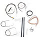 Black Vinyl Handlebar Cable and Brake Line Kit for Use w/12 in. - 14 in. Ape Hangers (w/o ABS) - LA-8210KT2A-13B