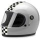 Silver Gringo S Checkers Helmet