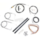 Black Vinyl Handlebar Cable and Brake Line Kit for Use w/15 in. - 17 in. Ape Hangers (w/o ABS) - LA-8210KT2A-16B