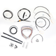 Black Vinyl Handlebar Cable and Brake Line Kit for Use w/12 in. - 14 in. Ape Hangers - LA-8051KT2-13B