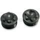 Black Stainless Steel Fork Caps for 49mm Forks - FC-3004