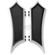 Black Anodized Extended Instigator Driver Floorboards - FBF01-IN