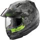 Matte Black/Silver/Green Defiant Pro-Cruise Mimetic Helmet