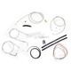Stainless Braided Handlebar Cable and Brake Line Kit for Use w/15 in. - 17 in. Ape Hangers (w/o ABS) - LA-8100KT2A-16