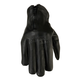 Womens Black 7mm Leather Gloves