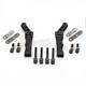 Black Radial Front Brake Caliper Mounts for 11.5 in. Brake Disc - SM-HDRBM11.5DDB