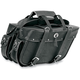 Rivet Extra-Large Box-Style Detachable Slant Saddlebags - 9698RP