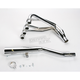 4-into-1 Chrome Megaphone Exhaust System - 001-2401