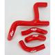 Red Performance Radiator Hoses - SFSMBC171R