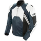 White/Gunmetal Radar Leather Jacket