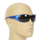 Blue Safety C-125 Sunglasses w/Smoke Lens - C-125BL/SM