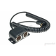 Low Profile To Dual Cigarette Socket 24 in. Coil Cable - PAC-031