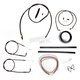 Midnight Stainless Handlebar Cable and Brake Line Kit for Use w/15 in. to 17 in. Ape Hangers - LA-8110KT2A-16M