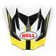 Yellow/Black/White Visor for SX-1 Storm Helmet - 8031120