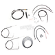 Black Vinyl Handlebar Cable and Brake Line Kit for Use w/Mini Ape Hangers (w/ABS) - LA-8150KT2-08B