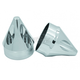 Chrome Spike Axle Nut Covers - AXL-SPK-CH-TOUR