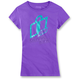 Womens Purple Double Up T-Shirt